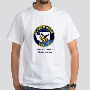 Proud HMJ Girlfriend White T-Shirt