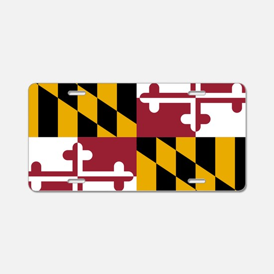 State Flag of Maryland Aluminum License Plate