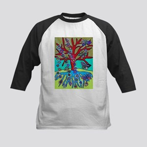 Red Tree Of Life Falling Hearts G Baseball Jersey