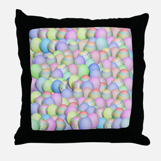 Unique Colored eggs Throw Pillow