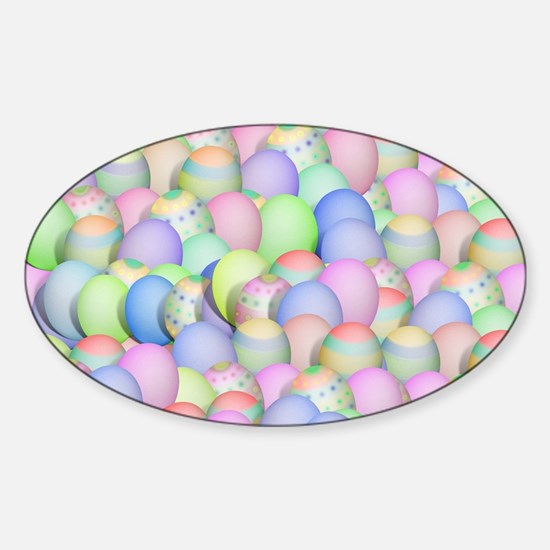 Pastel Colored Easter Eggs Bumper Stickers