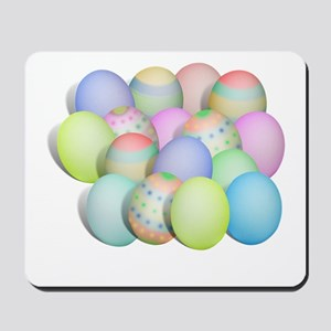 Pastel Colored Easter Eggs Mousepad