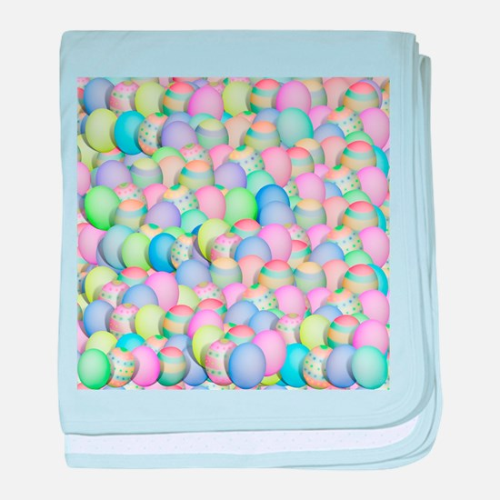 Pastel Colored Easter Eggs baby blanket
