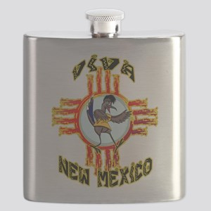 VIVA NEW MEXICO WITH RANDY ROADRUNNER Flask