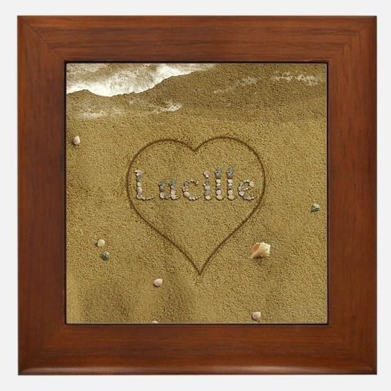 Lucille Beach Love Framed Tile