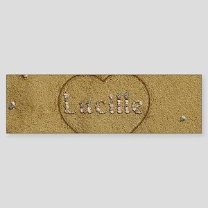 Lucille Beach Love Sticker (Bumper)