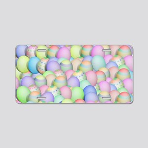 Pastel Colored Easter Eggs Aluminum License Plate