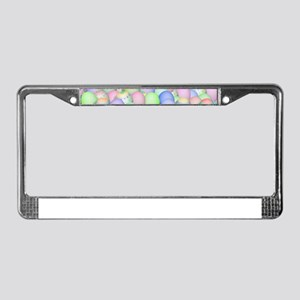 Pastel Colored Easter Eggs License Plate Frame