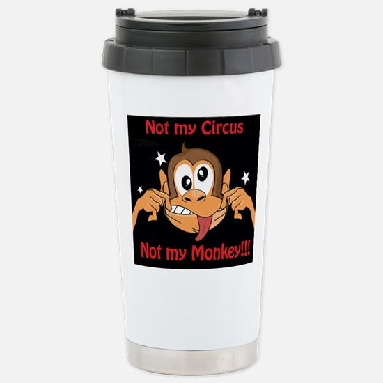 Not My Monkey Travel Mug