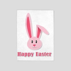 Happy Easter Bunny 5'x7'Area Rug