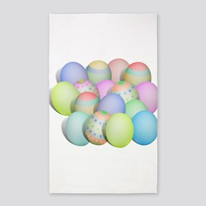 Pastel Colored Easter Eggs Area Rug
