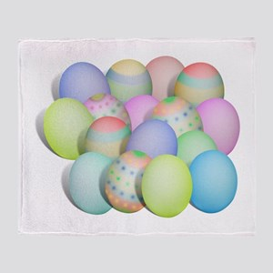 Pastel Colored Easter Eggs Throw Blanket