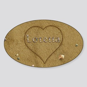 Loretta Beach Love Sticker (Oval)