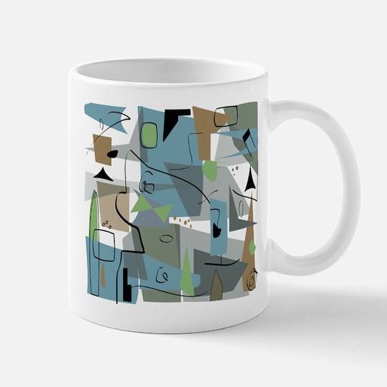 Mid-Century Modern Abstract Mugs