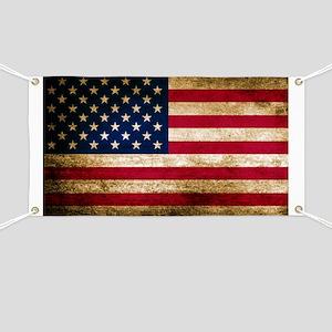 Vintage Fade American Flag Banner