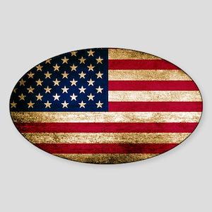 Vintage Fade American Flag Sticker