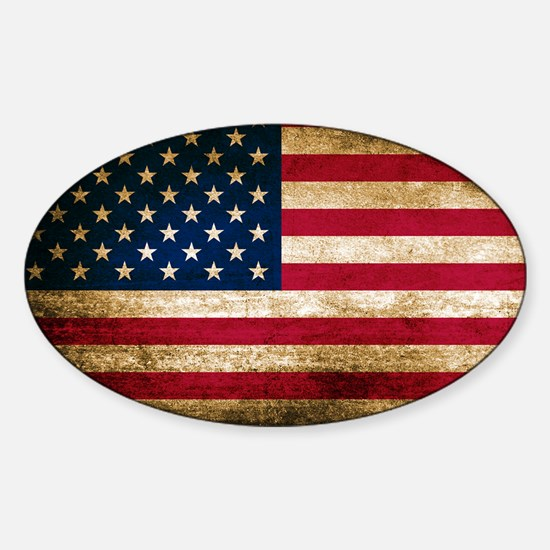 Vintage Fade American Flag Decal