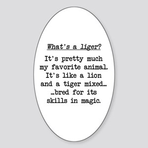 What's a Liger (blk) - Napoleon Oval Sticker