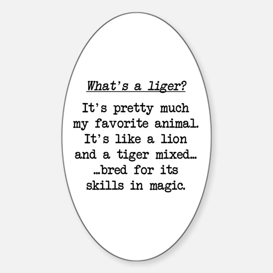 What's a Liger (blk) - Napoleon Oval Decal