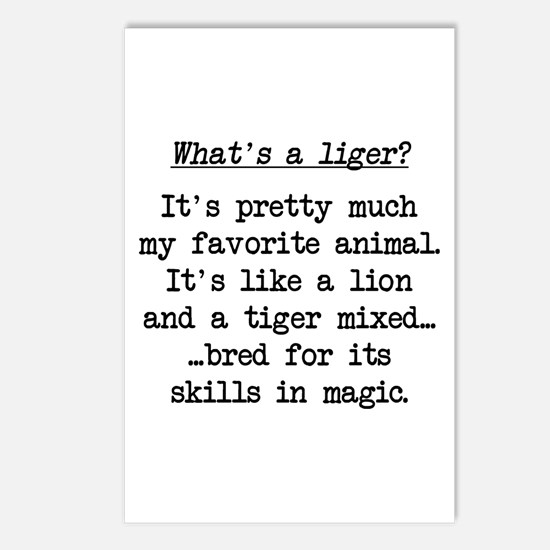 What's a Liger (blk) - Napoleon Postcards (Package