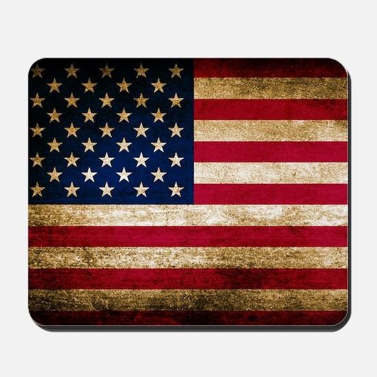 Vintage Fade American Flag Mousepad