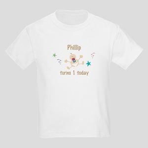 Phillip turns 1 today Kids Light T-Shirt