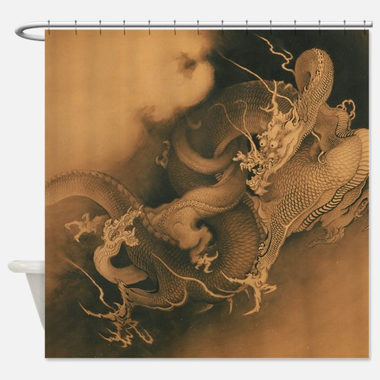 Dragons in the Clouds Shower Curtain