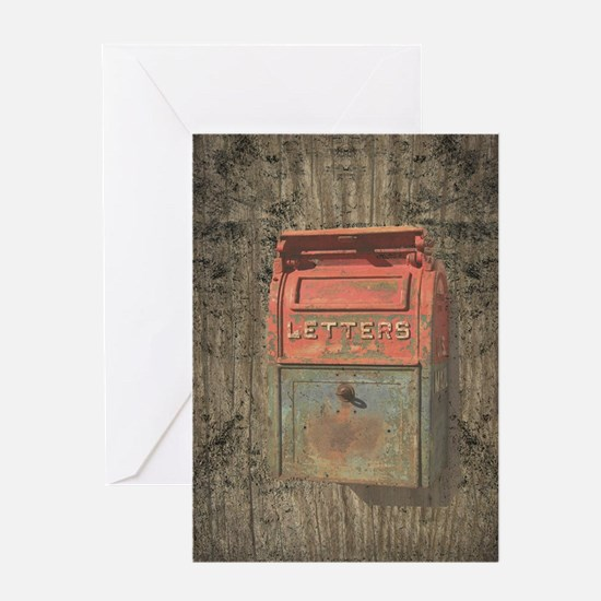 Old Rusty Mailbox Greeting Card