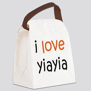 I Love Yiayia Canvas Lunch Bag
