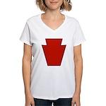 28th Infantry Women's V-Neck T-Shirt