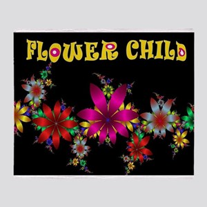 FLOWER CHILD Throw Blanket