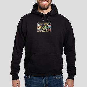 Black Schnauzer Collage Hoodie (dark)