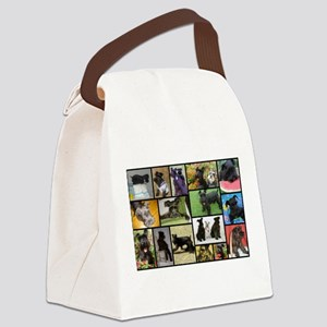 Black Schnauzer Collage Canvas Lunch Bag