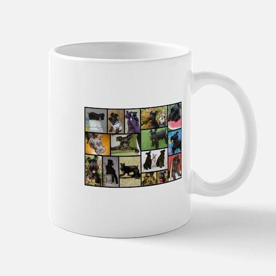 Black Schnauzer Collage Mugs