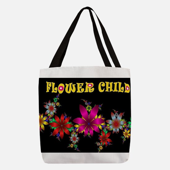 FLOWER CHILD Polyester Tote Bag