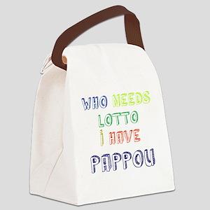 Pappou lotto Canvas Lunch Bag