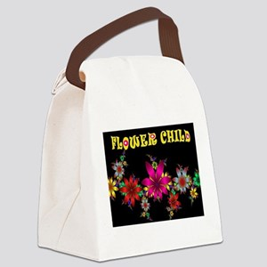 FLOWER CHILD Canvas Lunch Bag