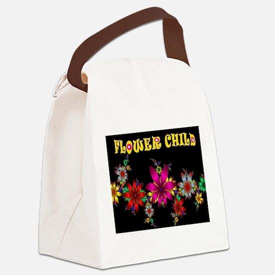 FLOWER CHILD Canvas Lunch Bag