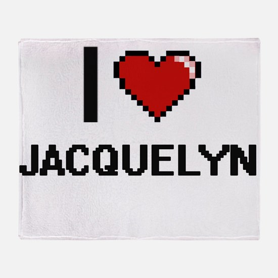 I Love Jacquelyn Throw Blanket