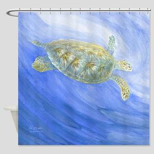 Sea Turtle Deep Sea Shower Curtain