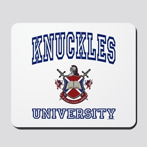 KNUCKLES University Mousepad