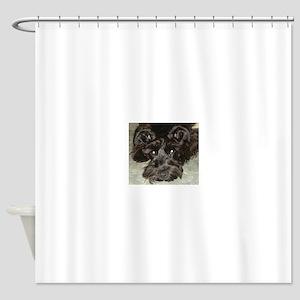 atticussquareface Shower Curtain