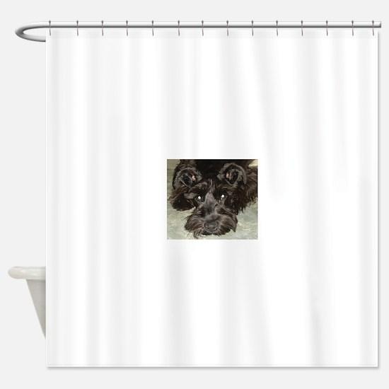 atticussquareface.JPG Shower Curtain