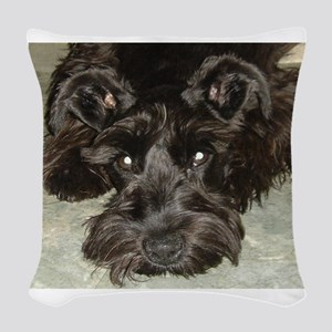atticussquareface Woven Throw Pillow