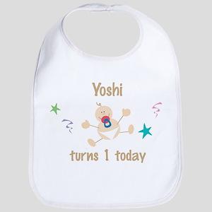 Yoshi turns 1 today Bib