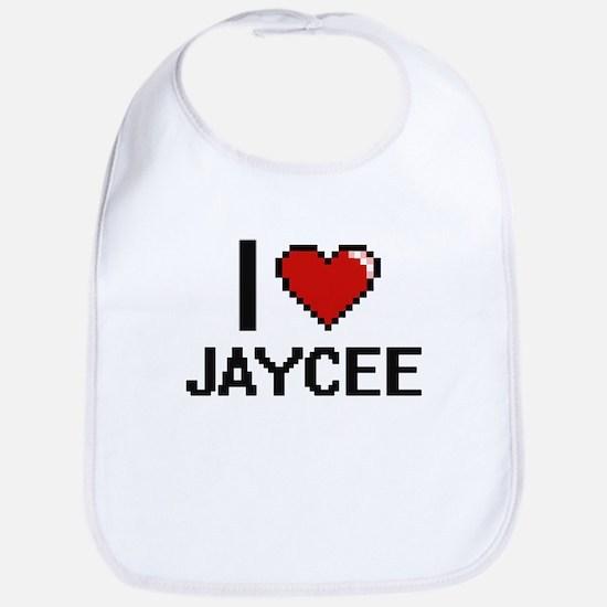 I Love Jaycee Bib
