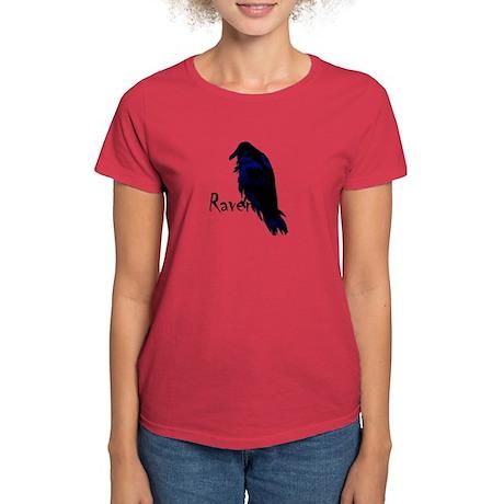 Raven Perched on Raven Women's Dark T-Shirt