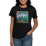 Retro Martini on Women's Dark T-Shirt