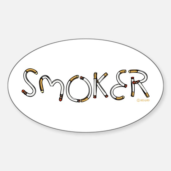 Smoker Oval Decal