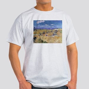 Vincent Van Gogh Wheat Stacks With Reaper T-Shirt